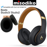 misodiko Premium Noise Cancelling Memory Foam Earpads for Beats by Dr. Dre Studio 3.0 & Studio 2.0 Wired / Wireless B0500 / B0501 Over-Ear Headphone, Replacement Headphone Ear Cushion kit