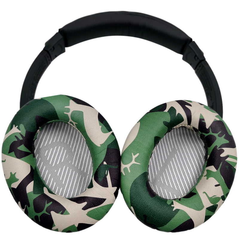 misodiko Replacement Cushions Ear Pads - for Bose Quiet Comfort 35 (QC35) and QuietComfort 35 II (QC35 II) Headphones, Repair Parts Earmuff Earpads Cup Pillow Cover (Camo)