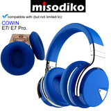 misodiko Replacement Cushions Ear Pads - for COWIN E7/ E7 Pro, Headphones Repair Parts Earmuff Earpads Cup Pillow Cover