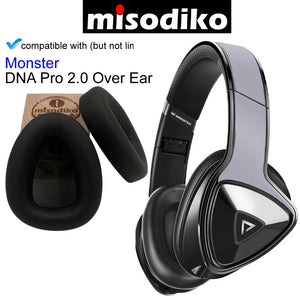 misodiko Replacement Ear Pads Cushions with Plastic Clip - for Monster DNA Pro 2.0 Over Ear, Headphones Repair Parts Earmuff Earpads Cup Pillow Cover