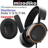misodiko Replacement Ear Pads Cushions Kit - for SteelSeries Arctis 1/ 3/ 5/ 7/ 9X Gaming Headset, Headphones Repair Parts Earmuff Earpads Cup Pillow Cover