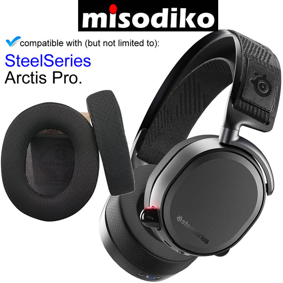 misodiko Replacement Ear Pads Cushions Kit - for SteelSeries Arctis Pro, 1/ 3/ 5/ 7/ 9X Gaming Headset, Headphones Repair Parts Earmuff Earpads Cup Pillow Cover