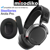 misodiko Replacement Ear Pads Cushions Kit - for SteelSeries Arctis Pro Gaming Headset, Headphones Repair Parts Earmuff Earpads Cup Pillow Cover