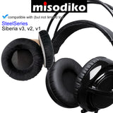 misodiko Headphone Ear Pads Cushions Earpads Kit Replacement for SteelSeriesSiberia v3 v2 v1 Gaming Headset