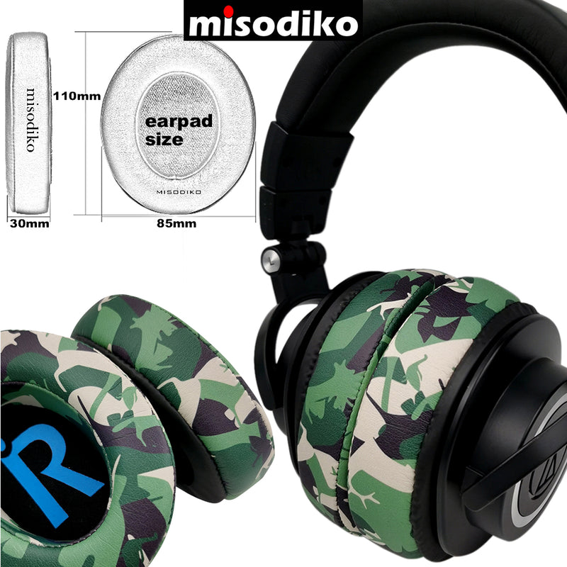 misodiko [Upgraded Comfy] Replacement Headphones Ear Pads Cushions for Audio-Technica ATH -M50x -M40x -M30x -MSR7, Shure SRH440 SRH840 SRH1440 SRH1840, Steelseries Arctis 3/ 5/ 7/ Pro, HyperX Cloud Alpha Silver Flight Stinger Core, CORSAIR HS50 HS60 HS70