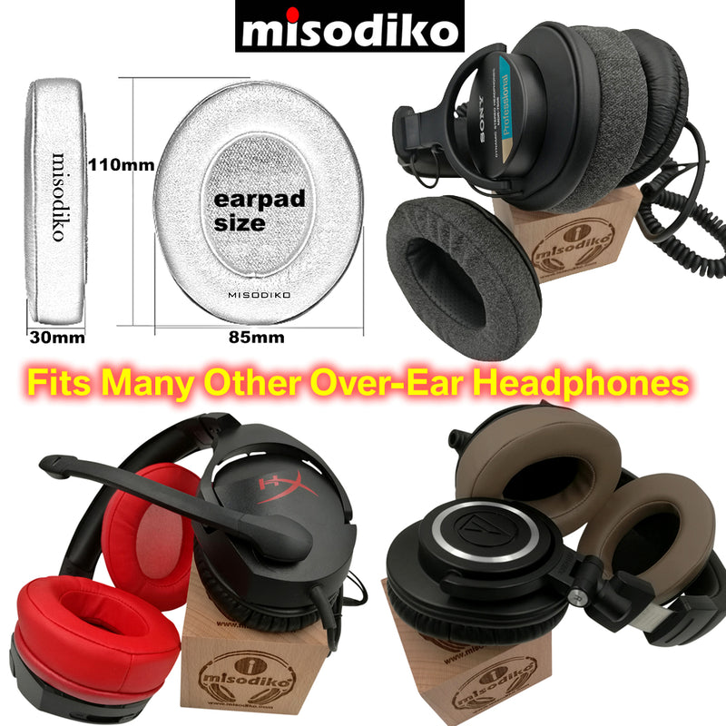 misodiko [Upgraded Comfy] Replacement Headphones Ear Pads Cushions for Audio-Technica ATH -M50x -MSR7, Sennheiser HD280, Philips SHP9500S, Arctis 3/ 5/ 7 /Pro, HyperX Cloud I/ II/ Core/ Alpha/ Flights/ Stinger, Fostex T60RP, HifiMan, Turtle Beach