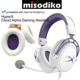 misodiko Replacement Cushions Ear Pads - for HyperX Cloud Alpha Gaming Headset | Headphones Repair Parts Earmuff Earpads Cup Pillow Cover