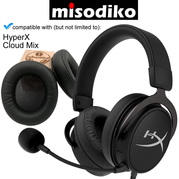 misodiko Replacement Cushions Ear Pads - for HyperX Cloud Mix Gaming Headset | Headphones Repair Parts Earmuff Earpads Cup Pillow Cover
