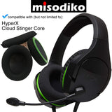 misodiko Replacement Net with Memory Foam Cushions Ear Pads and Headband - for HyperX Cloud Stinger Core Gaming Headset, Headphones Repair Parts Earmuff Earpads Cup Pillow Cover