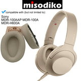 misodiko Replacement Cushions Ear Pads - for Sony MDR-100A MDR-100AAP/ h.ear on 2 MDR-H600A, Headphones Repair Parts Earmuff Earpads Cup Pillow Cover