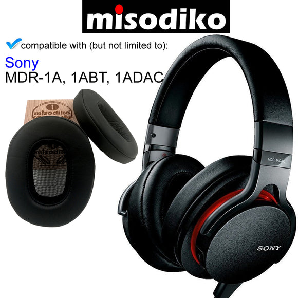 misodiko Replacement Ear Pads Cushion Kit - for Sony MDR1A MDR-1A, MDR-1ABT, MDR-1ADAC, Headphones Repair Parts Earpads