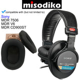 misodiko Replacement Ear Pads Cushion Kit - for Sony MDR 7506 - V6 - CD900ST with Memory Foam | Headphones Repair Parts Earpads