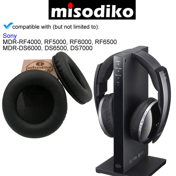 misodiko Replacement Round-95mm Ear Pads Cushion Kit - for Sony MDR-RF4000, RF5000, RF6000, RF6500, MDR-DS6000, DS6500, DS7000 Headphones Repair Parts Earpads