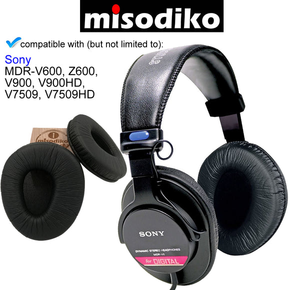 misodiko Replacement Ear Pads Cushion Kit - for Sony MDR-V600, Z600, V900, V900HD, V7509, V7509HD  | Headphones Repair Parts Earpads