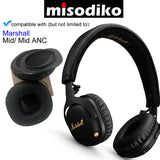 misodiko Replacement Cushions Ear Pads - for Marshall Mid/ Mid ANC On-Ear, Headphones Repair Parts Earmuff Earpads Cup Pillow Cover