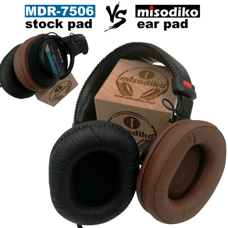 misodiko Replacement Cushions Ear Pads - for Audio Technica M-Series, ATH - MSR7 - M50x - M40x - M30x - M70x/ Sony MDR 7506 - V6 - V7 - CD900ST Headphones, Repair Parts Earmuff Earpads Cup Pillow Cover