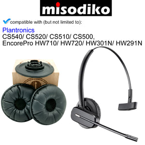 misodiko Replacement Ear Pads Cushions and Plastic Attachment Kit - for Plantronics CS540/ CS520/ CS510/ CS500, EncorePro HW710/ HW720/ HW301N/ HW291N Headset, Headphones Repair Parts Earpads
