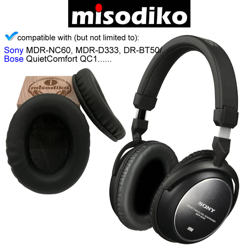misodiko Replacement Ear Pads Cushion Kit - for Bose QuietComfort QC1, Sony MDR-NC60 MDR-D333 DR-BT50, Headphones Repair Parts Earpads
