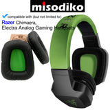 misodiko Replacement Cushions Ear Pads - for Razer Chimaera, Electra Analog Gaming Headset, Headphones Repair Parts Earmuff Earpads Cup Pillow Cover