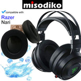 misodiko Replacement [Memory Foam with Cooling Gel] Ear Pads Cushions for Gaming Headset - Razer Nari Ultimate 7.1 Wireless / Wired, Headphones Repair Parts Earpads