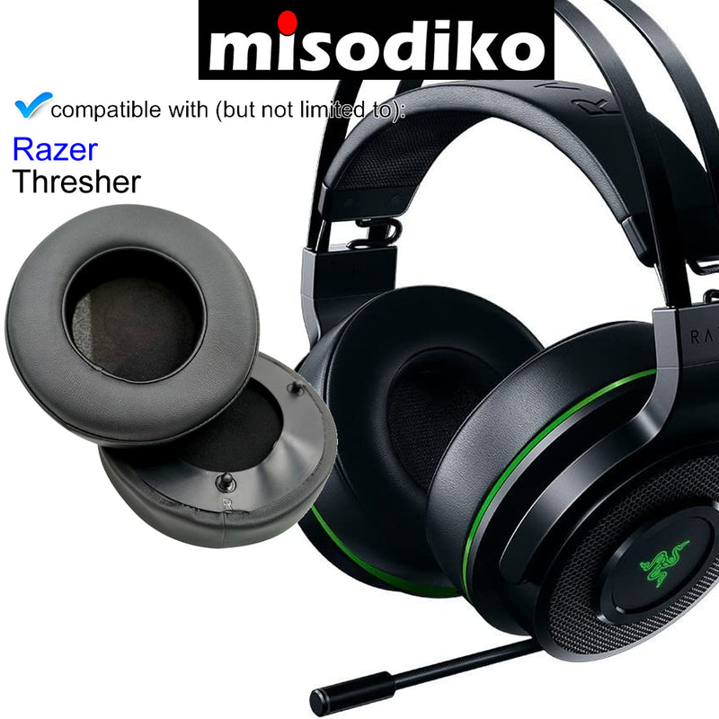 misodiko Headphones Ear Pads Cushions Earpads Kit Replacement for Razer Thresher Ultimate, Thresher 7.1, Thresher Tournament Edition Gaming Headset