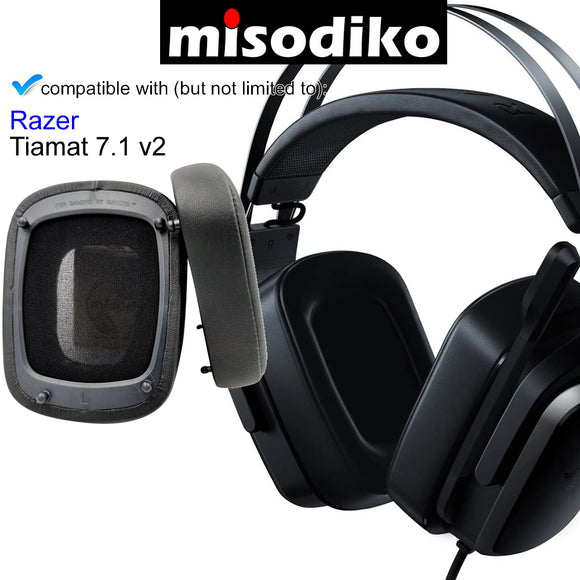 misodiko Headphones Ear Pads Cushions Earpads Kit Replacement for Razer Tiamat 7.1 v2 Gaming Headset