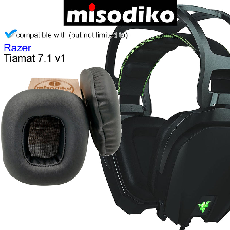 misodiko Headphones Ear Pads Cushions Earpads Kit Replacement for Razer Tiamat 7.1 v1, Tiamat 2.2 v1 Gaming Headset