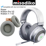 misodiko Replacement Oval Ear Pads Cushion Kit for - Razer Kraken Pro V2, Kraken 7.1 V2 Gaming Headset, Headphones Repair Parts Oval Earpads