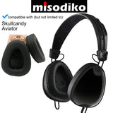 misodiko Replacement Cushions Ear Pads - for Skullcandy Aviator, Aviator 2, Aviator2.0 Headphones, Repair Parts Earmuff Earpads Cup Pillow Cover