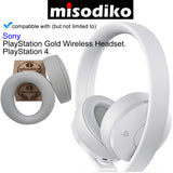 misodiko Replacement Cushions Ear Pads - for Sony PlayStation Gold Wireless - PlayStation 4 Headset, Headphones Repair Parts Earmuff Earpads Cup Pillow Cover