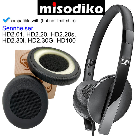misodiko Replacement Ear Pads Cushion Kit - for Sennheiser HD2.20s, HD2.30i, HD2.30G, HD100, HD2.01, HD2.20, Headphones Repair Parts Earpads