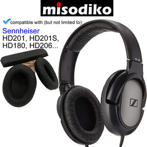 misodiko Replacement Headband + Ear Pads Cushion Kit - for Sennheiser HD201 HD206 HD180 HD201S | Headphones Repair Parts Earpads with Headband