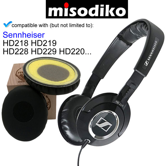 misodiko Replacement Ear Pads Cushion Kit - for Sennheiser HD228/ HD229/ HD218/ HD219/ HD220| Headphones Repair Parts Earpads