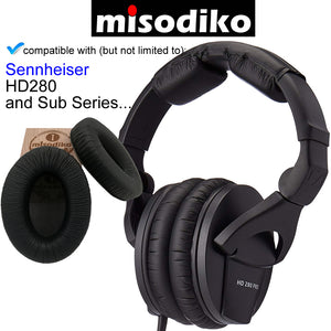 misodiko Replacement Ear Pads Cushions Kit - for Sennheiser HD280, HD280 PRO, HD280 DJ, HD280 SILVER, HD281, HMD280, HMD281 | Headphones Repair Parts Earpads