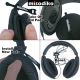 misodiko Replacement Ear Pads Cushion Kit for Sennheiser HD180, HD201, HD201S, HD206, HD418, HD419, HD428, HD429, HD438, HD439, HD448, HD449, Headphones Repair Parts Earpads