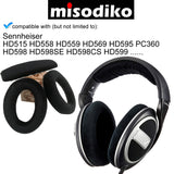 misodiko Replacement Cushions Ear Pads and Headband - for Sennheiser HD515 HD558 HD559 HD569 HD595 PC360 HD598 HD598SE HD598CS HD599, Headphones Repair Parts Earmuff Earpads Cup Pillow Cover