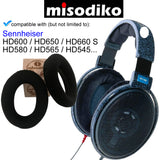 misodiko Replacement Ear Pads Cushions Kit - for Sennheiser HD650, HD600, HD580, HD660 S, HD565, HD545 - Headphones Repair Parts Earpads