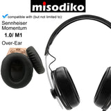 misodiko Replacement Cushions Ear Pads - for Sennheiser Momentum 1.0 M1 Over-Ear, Headphones Repair Parts Earmuff Earpads Cup Pillow Cover
