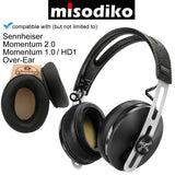 misodiko Replacement Angled Cushions Ear Pads - for Sennheiser Momentum 2.0/ 1.0 (M2/ M1), HD1 Over-Ear, Headphones Repair Parts Earmuff Earpads Cup Pillow Cover