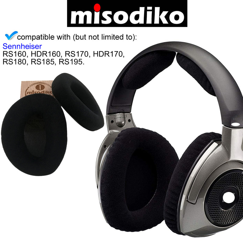 misodiko Replacement Ear Pads Cushion Kit - for Sennheiser RS160, HDR160, RS170, HDR170, RS180, RS185, RS195 - Headphones Repair Parts Earpads