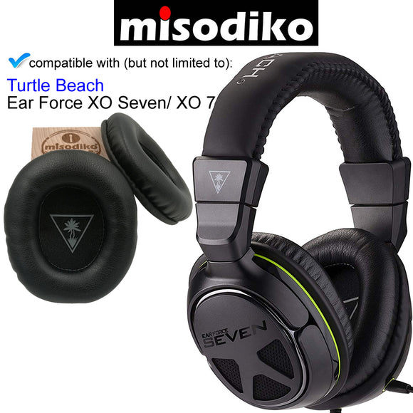 misodiko Replacement Cushions Ear Pads - for Turtle Beach Ear Force XO Seven (XO 7) Pro Premium Gaming Headset, Headphones Repair Parts Earmuff Earpads Cup Pillow Cover