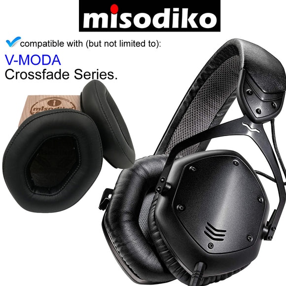 misodiko Replacement Ear Pads XL Cushions Kit - for V-MODA  Crossfade (LP, LP2 Vocal, M-100&More) Wireless/ Wired Over-Ear, Headphones Repair Parts Earmuff Earpads Cup Pillow Cover