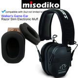 misodiko Ear Pads Cushion Kits for Walker's Game Ear Razor Slim Electronic Hearing Protection Muffs, Repair Parts Earmuff Earpads Cup Pillow Cover