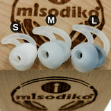 misodiko Silicone Earphones Earbuds Tips for Bose SoundSport Wireless/ SoundSport Free, Quietcontrol 30 QC30, QuietComfort 20 QC20, SoundSport In-Ear/ IE2/ IE3/ SIE2i Sport- Replacement Headphones Ear Buds Tips (3-pairs, Clear)