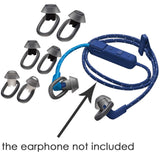 misodiko Silicone Earbuds Eargel Tips for Plantronics BackBeat Fit 350/ 300/ 305 Bluetooth Headphones- Replacement Anti-Slip Soft Ear Gels Tips (3-pairs, Black)