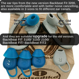 misodiko Silicone Earbuds Eargel Tips for Plantronics BackBeat Fit 3200/ 3100/ 2100/ 3150, BackBeat Fit/ Fit2 Bluetooth Headphones- Replacement Ear Gels Tips (3-pairs, Blue)