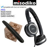 misodiko Replacement Headband Cushion Pads - for AKG K420 K430 K450 K451 Q460 K480NC, Repair Parts Headphones Headband
