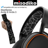 misodiko Replacement Headband Elastic - for SteelSeries Arctis 5/ Arctis 3 Gaming Headset, Headphones Headband Repair Parts