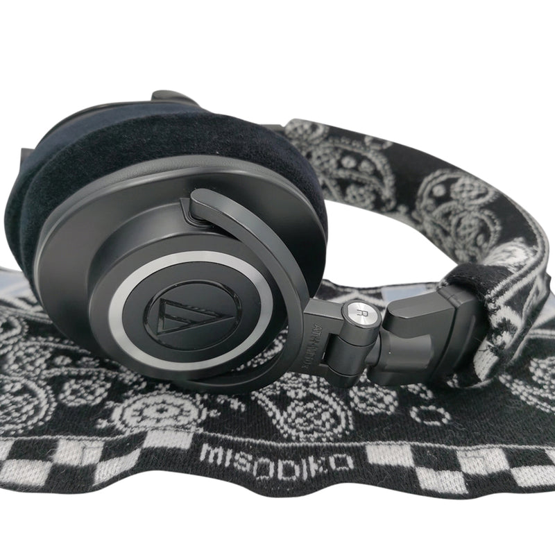 misodiko Sweater knitting Headband Protector Cover Compatible with Most Headphones - Beyerdynamic T1 DT240 T5P DT770 DT880 DT990 DT1770 DT1990 Pro Amiron MMX300 Custom, Audio Technica ATH M50x MSR7 M40x M30x M20x, Corsair HS70 HS60 HS50 HS75 Virtuoso