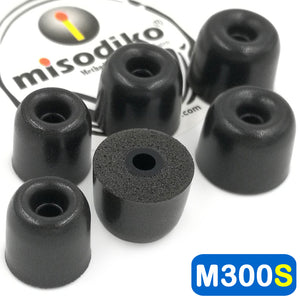 misodiko M300S Memory Foam Earbuds Tips - for Shure SE215 SE315 SE535 SE425 SE846 SE110 SE112/ Etymotic Research ER4 ER3 XR SE, MC3 MC5, HF2 HF3 HF5/ Klipsch In-Ear/ Westone AM UM Pro/ AUDIOFLY AF Series - Replacement Earphones Eartips (3-Pairs)